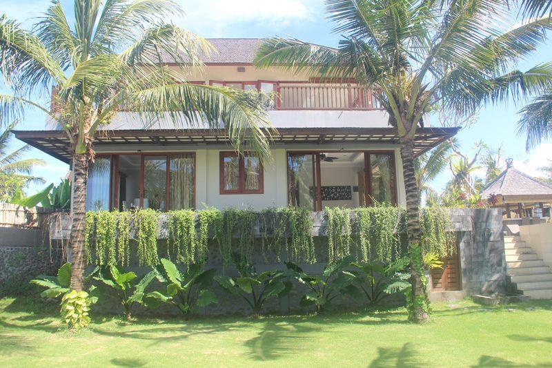 View across the garden to the villa