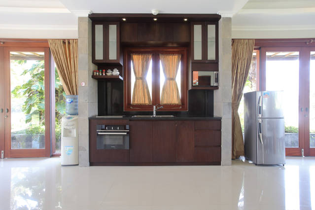Downstairs kitchen in villa