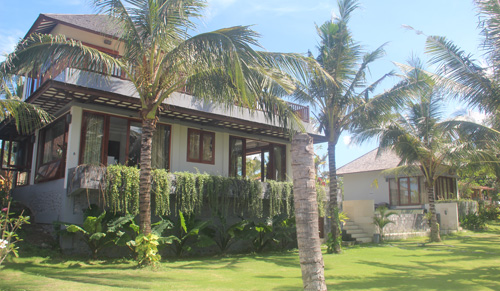 View across garden towards Balian Villa