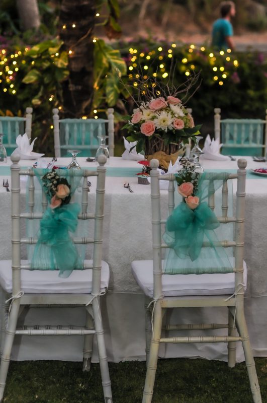 Balian wedding tables