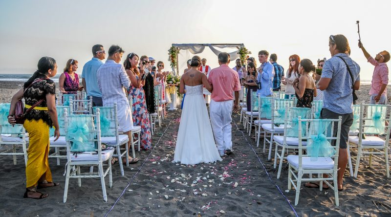 Wedding ceremony on Balian beach