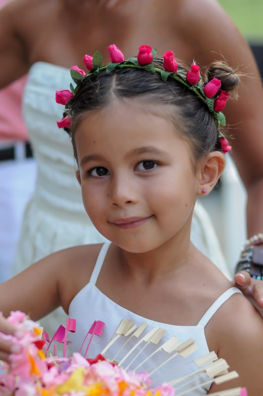 Flower girl at Balian wedding